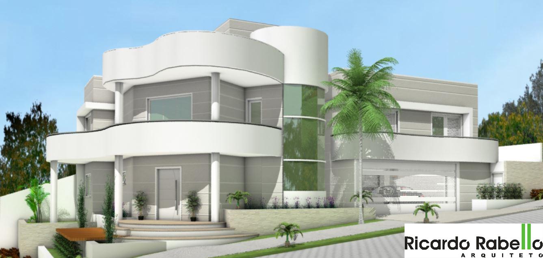 Residência Para Lotes De Esquina Com 2 Pavimentos Contendo 3 Dormitórios,  Sendo 1 Suite, Mezanino, Sacada, Estar/jantar, Lavabo, Serviço, Garagem  Para 2 ...