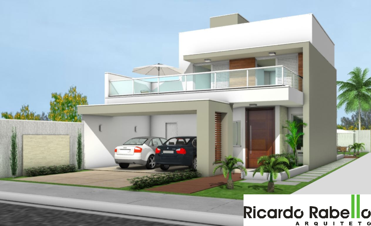 Residência Com 2 Pavimentos Com 3 Dormitórios, Sendo 1 Suite Com Closet,  Escritório, Sacada, Estar/jantar, Lavabo, Serviço, Garagem Para 2 Carros,  ...